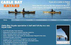 kayak hire in cable bay